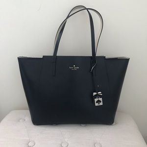 Black Structured Kate Spade Tote